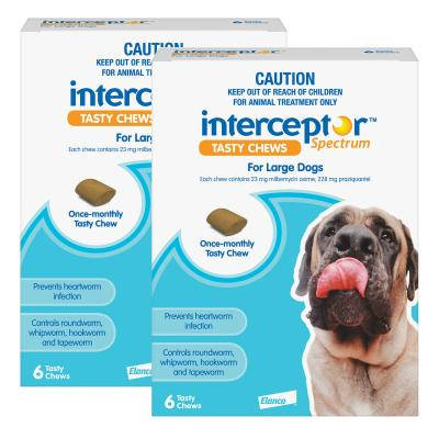 Interceptor Spectrum For Dogs 22-45kg Blue 12 Chews
