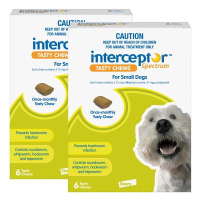 Interceptor Spectrum For Dogs 4-11kg Green 12 Chews
