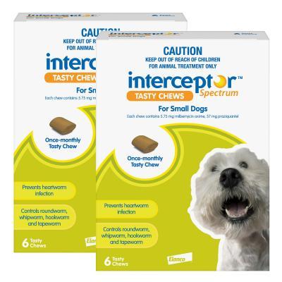 Interceptor Spectrum For Dogs 4-11kg Green 12 Chews