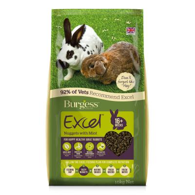 Burgess Excel Nuggets With Mint Pellet Food For Adult Rabbits 10kg