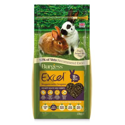 Burgess Excel Nuggets With Oregano Pellet Food For Adult Rabbits 2kg