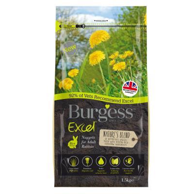 Burgess Excel Nuggets Natures Blend Pellet Food For Adult Rabbits 1.5kg