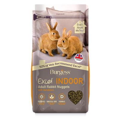 Burgess Excel Nuggets With Dandelion Pellet Food For Indoor Adult Rabbits 1.5kg