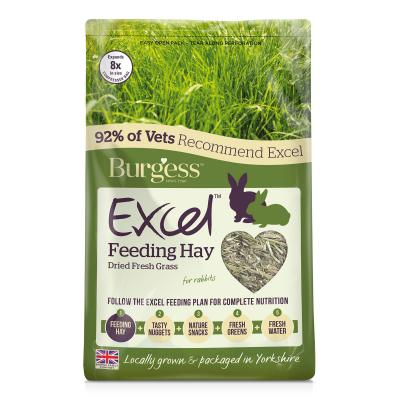 Burgess Excel Timothy Feeding Hay Dried Fresh Grass For Rabbits 1kg