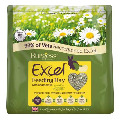 Burgess Excel Timothy Feeding Hay With Chamomile For Small Animals 500g