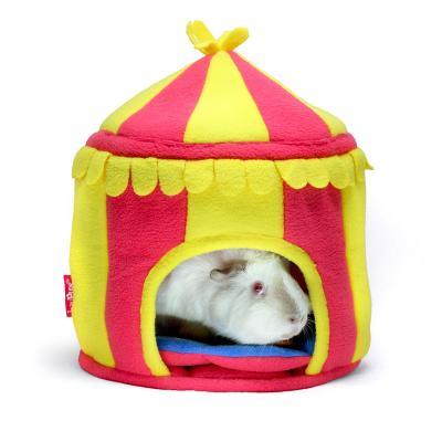 Haypigs Circus Fleece Hidey Hut For Small Animals