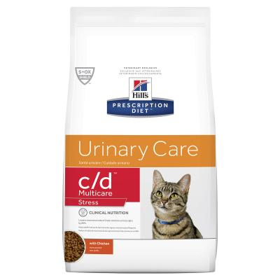 Hills Prescription Diet Feline c/d Urinary Care Multicare Stress Chicken Dry Cat Food 1.8kg (603930)