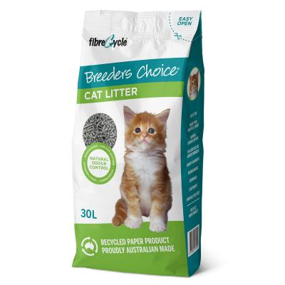 Breeders Choice Biodegradable Recycled Paper Litter For Cats 30L
