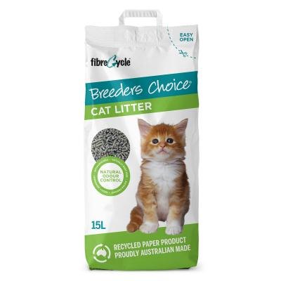 Breeders Choice Biodegradable Recycled Paper Litter For Cats 15L
