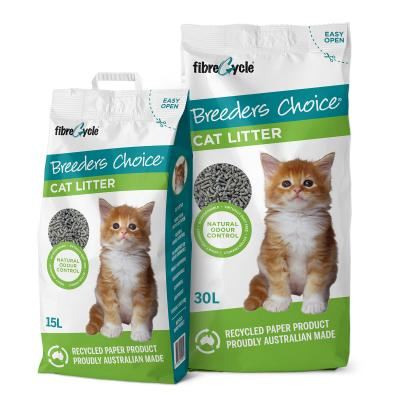 Breeders Choice Biodegradable Recycled Paper Litter For Cats 45L
