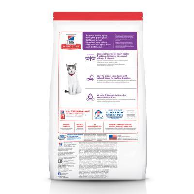 Hills Science Diet Chicken Recipe 11+ Mature/Senior Dry Cat Food 3.17kg  (1463)