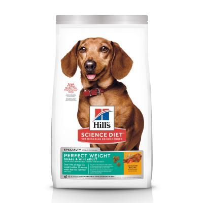 Hills Science Diet Perfect Weight Chicken Recipe Small/Toy/Mini Breed Adult Dry Dog Food 1.81kg   (3821)