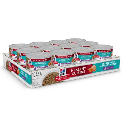 Hills Science Diet Healthy Cuisine Seared Tuna And Carrot Medley 11+ Senior/Mature Canned Wet Cat Food 79gm x 24 (10444)