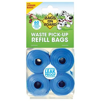 Bags On Board Refill Roll Plastic Pet Poo Waste Bags 4 Pack