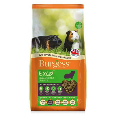 Burgess Excel Nuggets With Mint Pellet Food For All Age Guinea Pigs 10kg