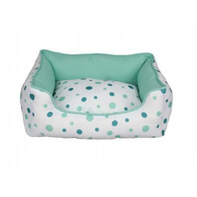 ZeeZ Lounger Mint Polkadot Medium Bed For Dogs (60x50x20cm)