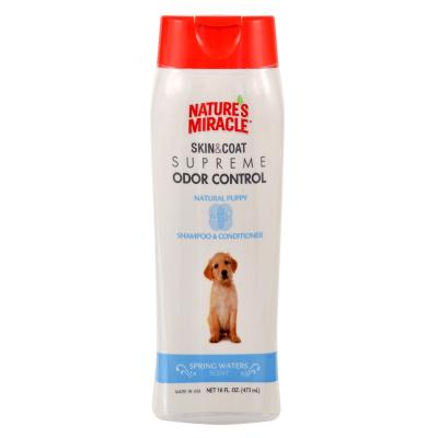 Natures Miracle Skin and Coat Supreme Odour Control Natural Puppy Spring Waters Shampoo and Conditioner For Dogs 473ml