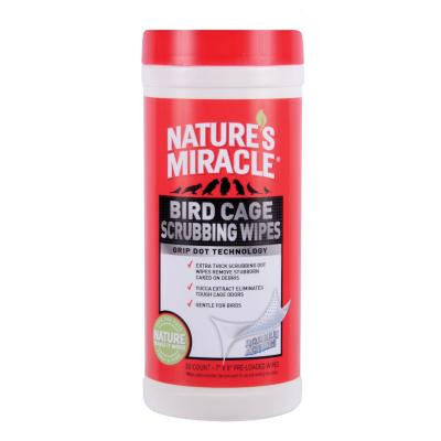 Natures Miracle Bird Cage Scrubbing Clean Wipes 30pk