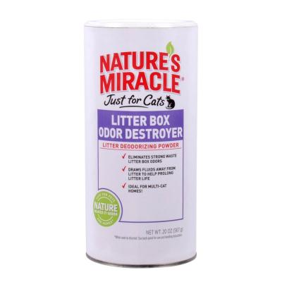 Natures Miracle Just For Cats Litter Box Odour Destroyer Powder 567gm