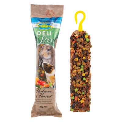 Vetafarm Delistix Herbivore Harvest Treat Stick For Small Animals 80gm