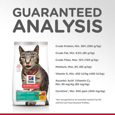 Hills Science Diet Perfect Weight Chicken Recipe Adult Dry Cat Food 6.34kg