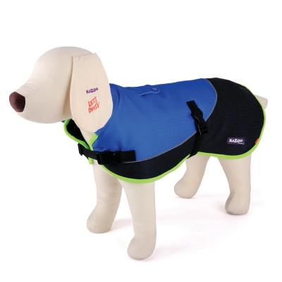 Kazoo Active Two Tone Dog Coat Blue XSmall 33.5cm