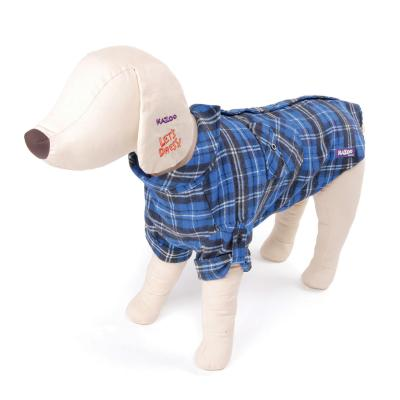 Kazoo Flano Shirt Blue Dog Coat XXSmall 27cm