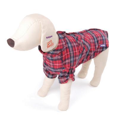 Kazoo Flano Shirt Red Dog Coat XSmall 33.5cm