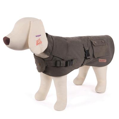 Kazoo Oilskin Dog Coat Olive Medium 46.5cm