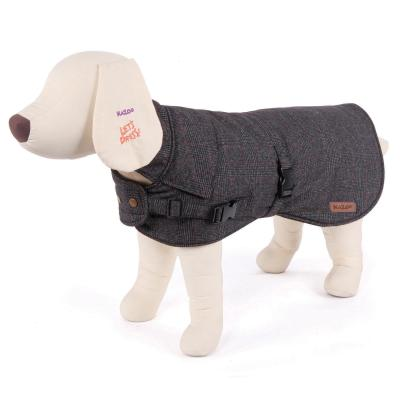 Kazoo Sherlock Dog Coat Charcoal XSmall 33.5cm