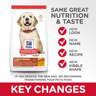 Hills Science Diet Chicken Meal And Oats Recipe Large Breed Puppy Dry Dog Food 24kg
