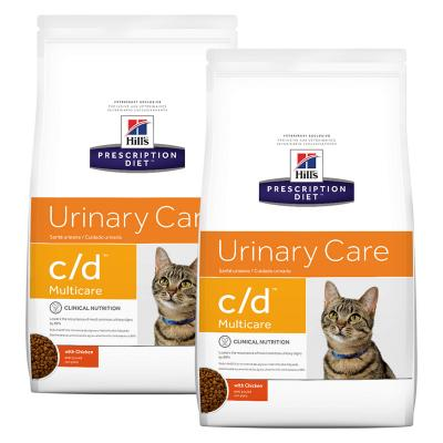 Hills Prescription Diet Feline c/d Urinary Care Multicare Chicken Dry Cat Food 12kg (10370HG)