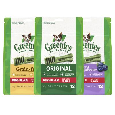 Greenies Dental Treats Multipack Regular For Dogs 11-22kg (36 Treats) 1020g