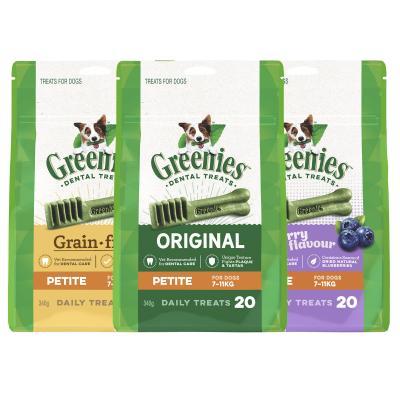 Greenies Dental Treats Multipack Petite For Dogs 7-11kg (60 Treats) 1020g