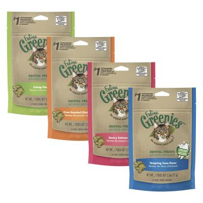 Greenies Feline Dental Treats Multipack For Cats 71g x 4