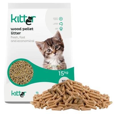 Kitter Wood Pellet Cat Litter 15kg