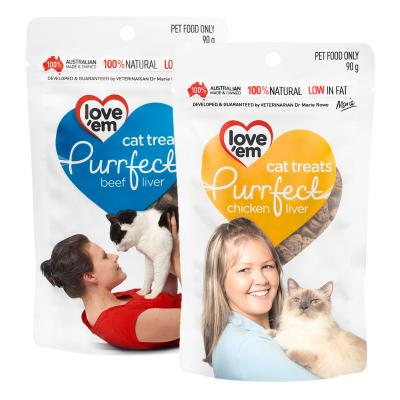 Love em Purrfect Chicken And Beef Liver Treats Pack For Cats 180g