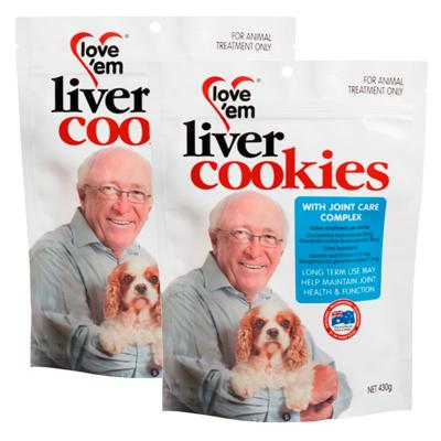 Love em Cookies With Joint Care Complex Treats For Dogs 430g x 2 Pack