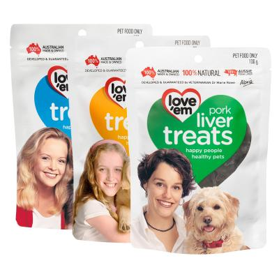 Love em Three Flavour Liver Treats Pack For Dogs 90-100g x 3 Pack