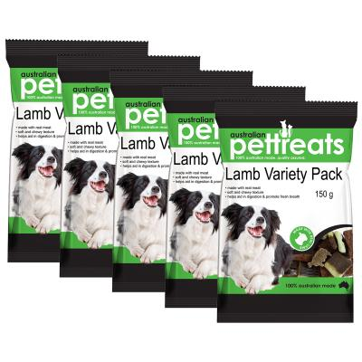 Australian Pettreats Lamb Variety Pack With Mint And Garlic For Dogs 750gm
