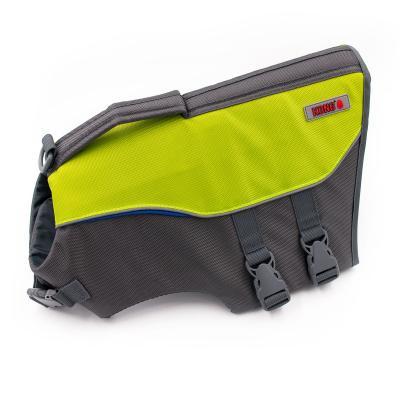 KONG Sport Aqua Pro Dog Flotation Life Vest Jacket Green/Silver Medium 66 - 79cm Girth
