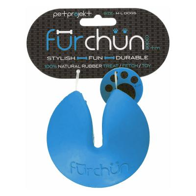 Furchun Cookie Blue Rubber Treat Toy For Dogs