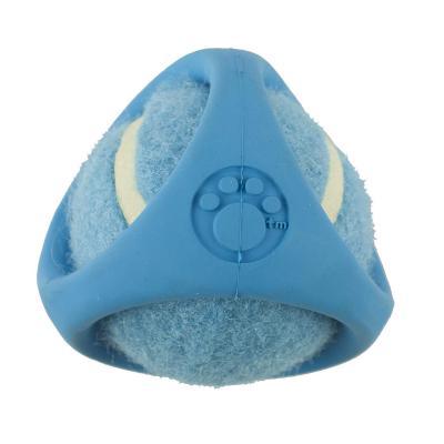 Tennisbal Blue Rubber Shroud Tennis Ball Toy For Dogs