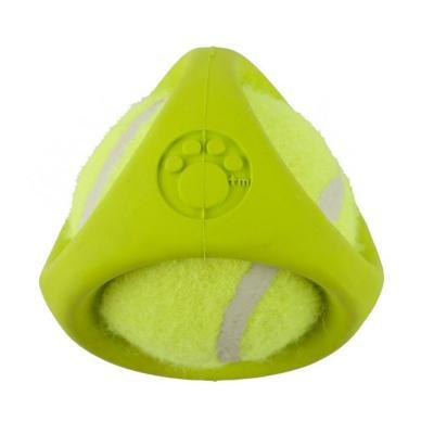 Tennisbal Green Rubber Shroud Tennis Ball Toy For Dogs