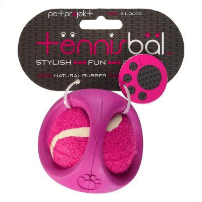 Tennisbal Pink Rubber Shroud Tennis Ball Toy For Dogs