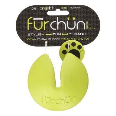 Furchun Cookie Green Rubber Treat Dispenser Toy For Dogs