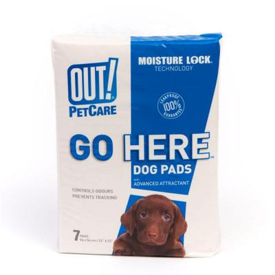 Out! Petcare Go Here Toilet Training Pads For Dogs 56x56cm 7 Pack
