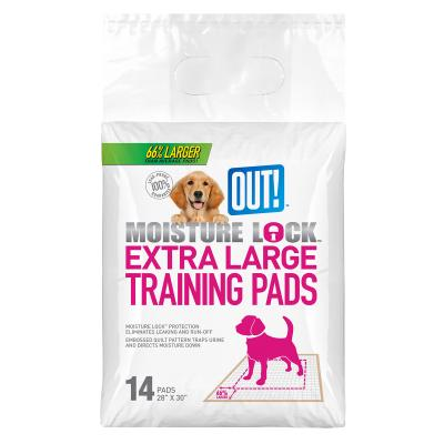 Out! Petcare Moisture Lock Toilet Training Pads For Dogs XLarge 71x76cm 14 Pack