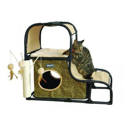 ZeeZ Feline Climbing Hill Scratching Post Fun House Toy For Cats
