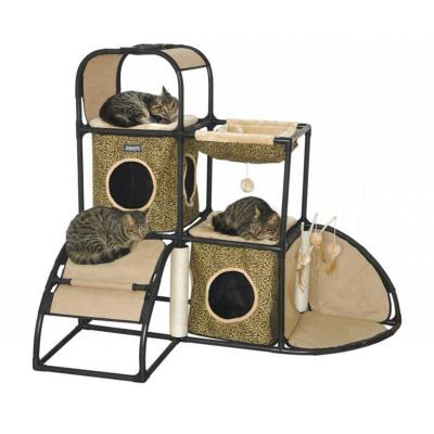 ZeeZ Feline Corner Hideaway Scratching Post Fun House Toy For Cats